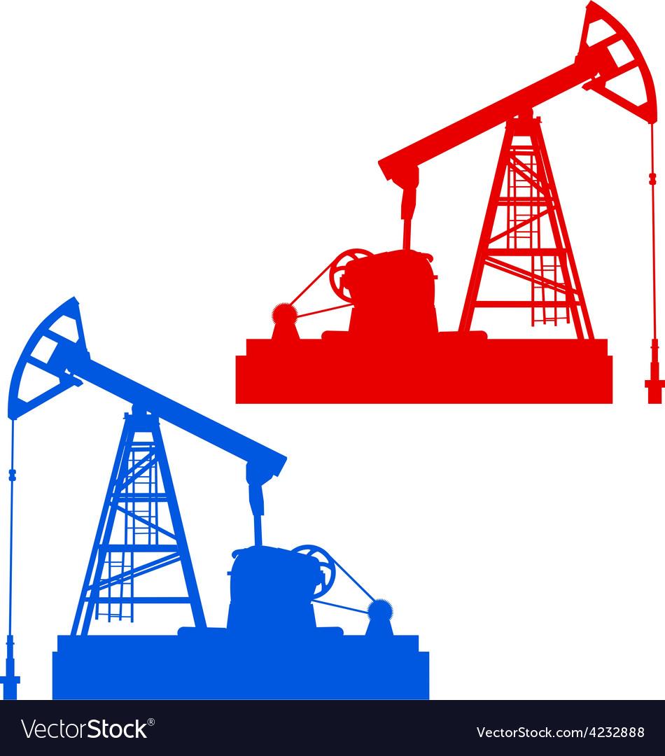 Oil pumpjack oil industry equipment vector | Price: 1 Credit (USD $1)