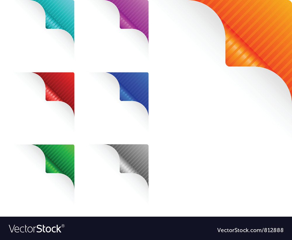 Paper corners vector | Price: 1 Credit (USD $1)