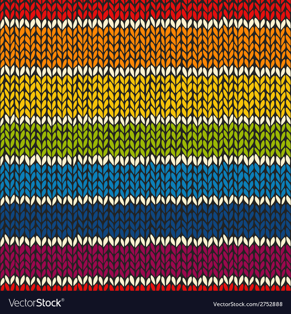 Sea mless pattern with knitted stripes vector | Price: 1 Credit (USD $1)