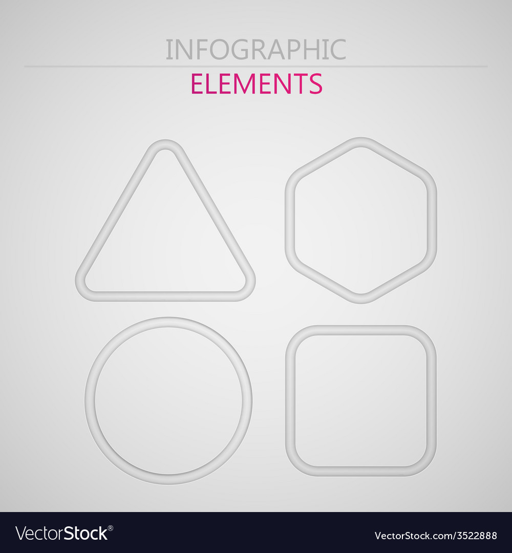 Set of abstract 3d paper infographic elements for vector | Price: 1 Credit (USD $1)