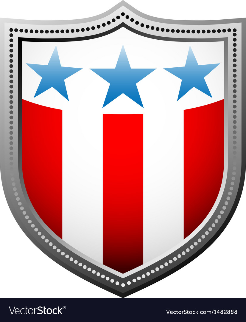 Star and stripes badge vector | Price: 1 Credit (USD $1)