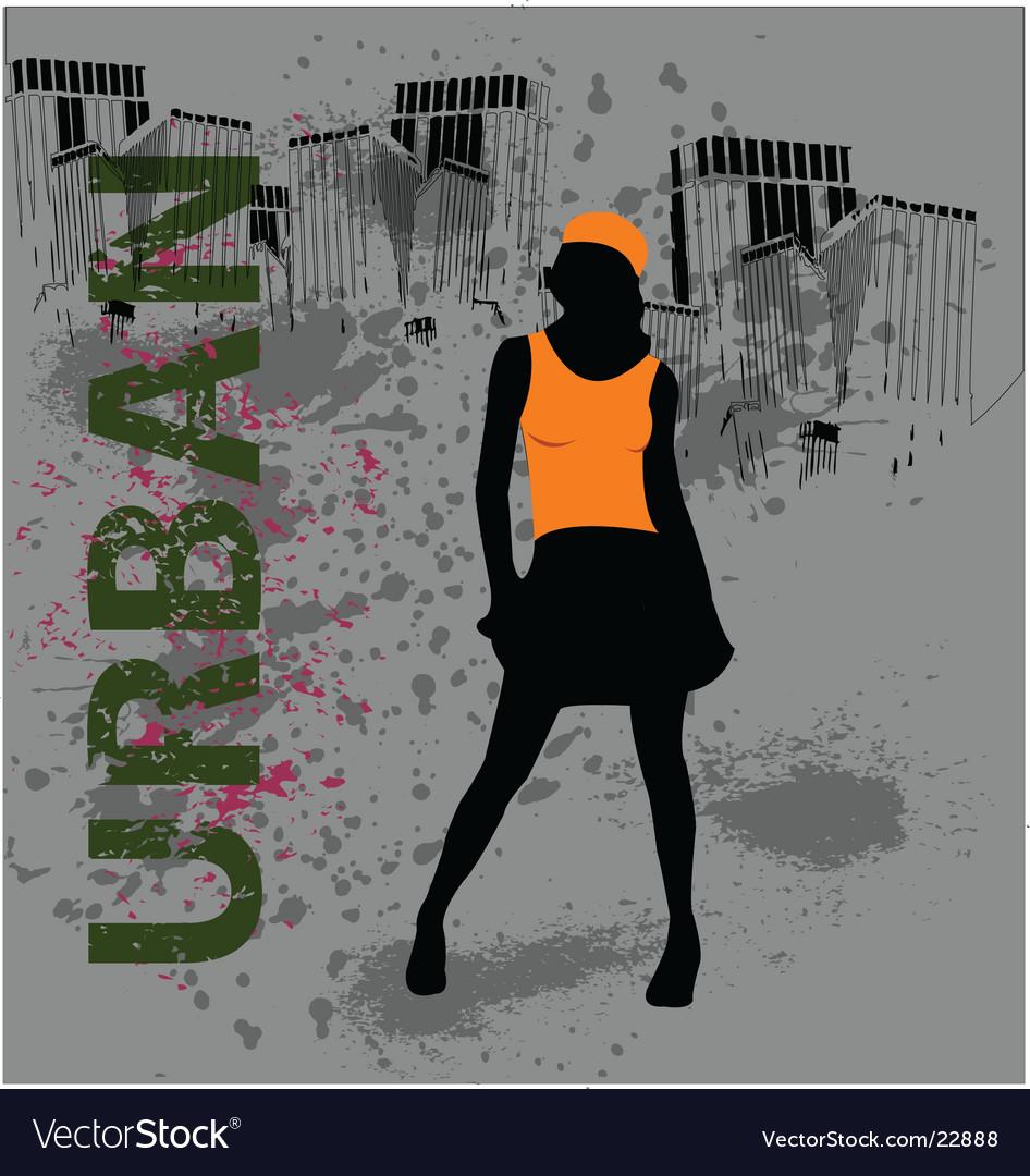 Urban female vector | Price: 1 Credit (USD $1)