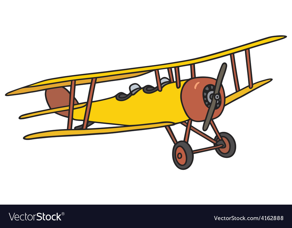 Vintage biplane vector | Price: 1 Credit (USD $1)