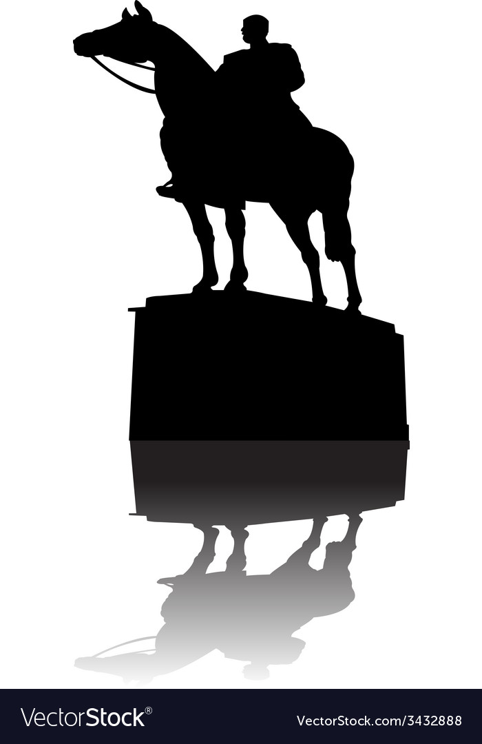 Warrior on horse monument vector | Price: 1 Credit (USD $1)