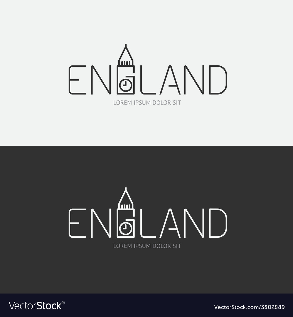 Alphabet england design concept with flat sign vector | Price: 1 Credit (USD $1)