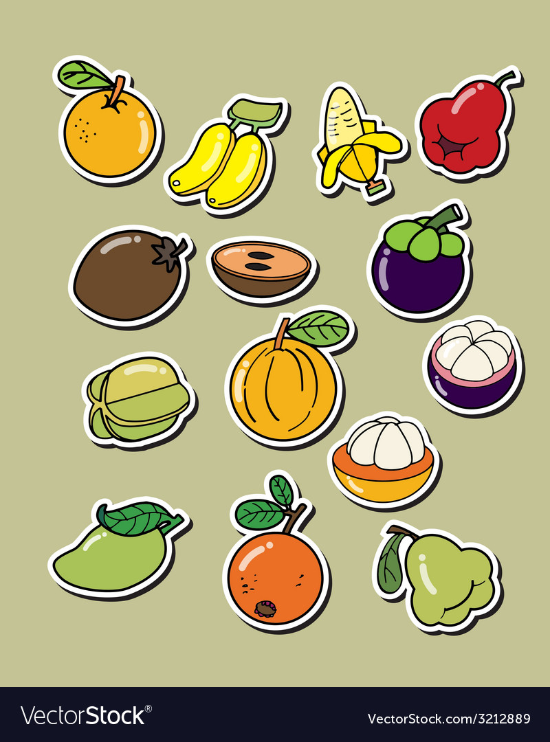 Cartoon fruit vector | Price: 1 Credit (USD $1)