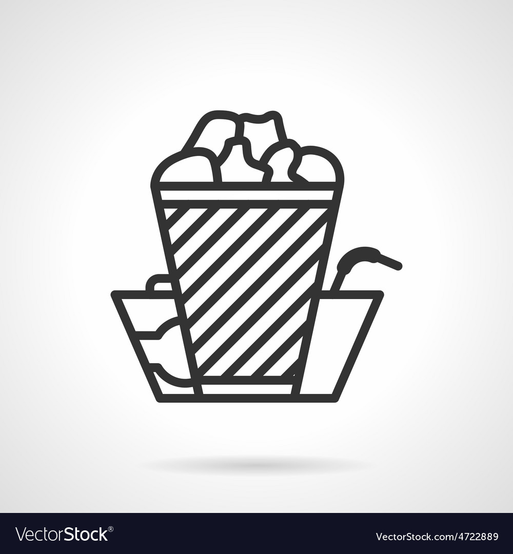 Cinema food black line icon vector | Price: 1 Credit (USD $1)