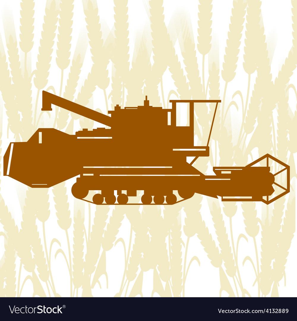 Combine harvester 2 vector | Price: 1 Credit (USD $1)