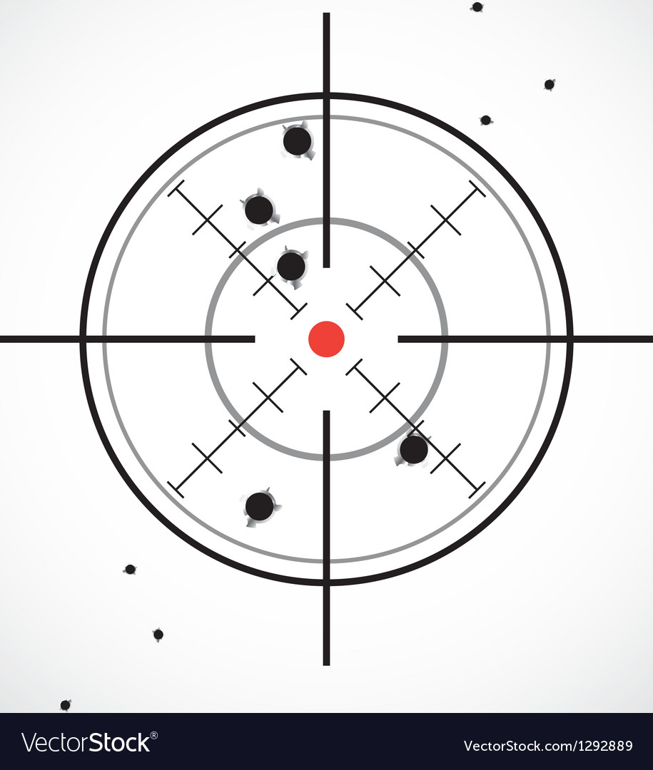 Crosshair shot vector | Price: 1 Credit (USD $1)