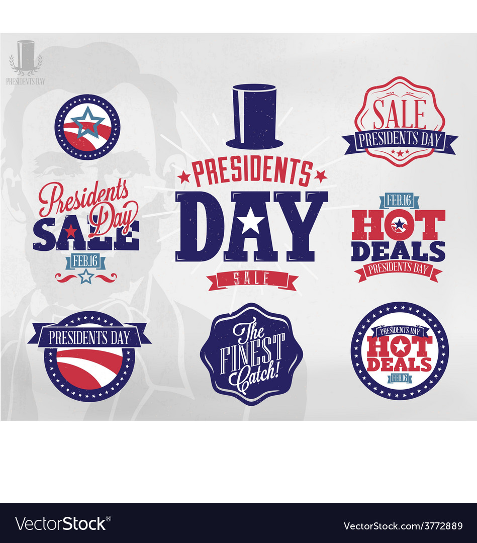 Happy presidents day sale sign vector | Price: 1 Credit (USD $1)