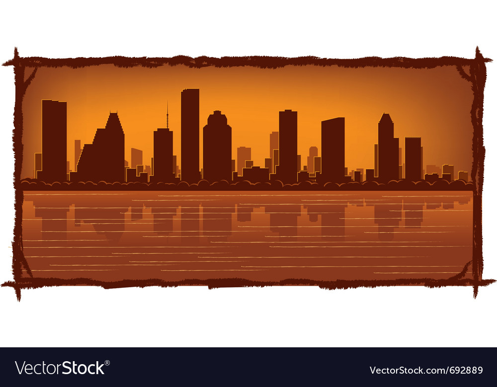 Houston skyline vector | Price: 1 Credit (USD $1)
