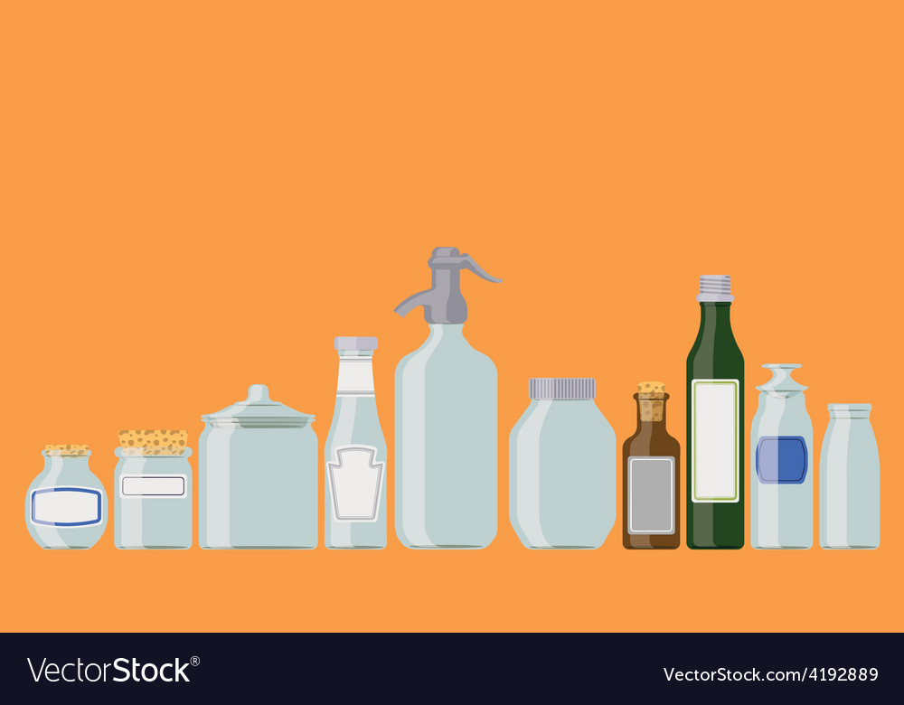 Jars and bottles vector | Price: 1 Credit (USD $1)