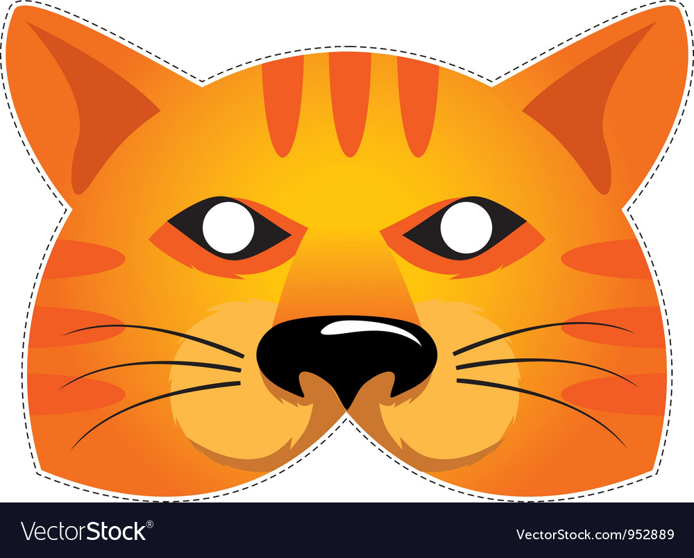 Mask cat vector | Price: 1 Credit (USD $1)