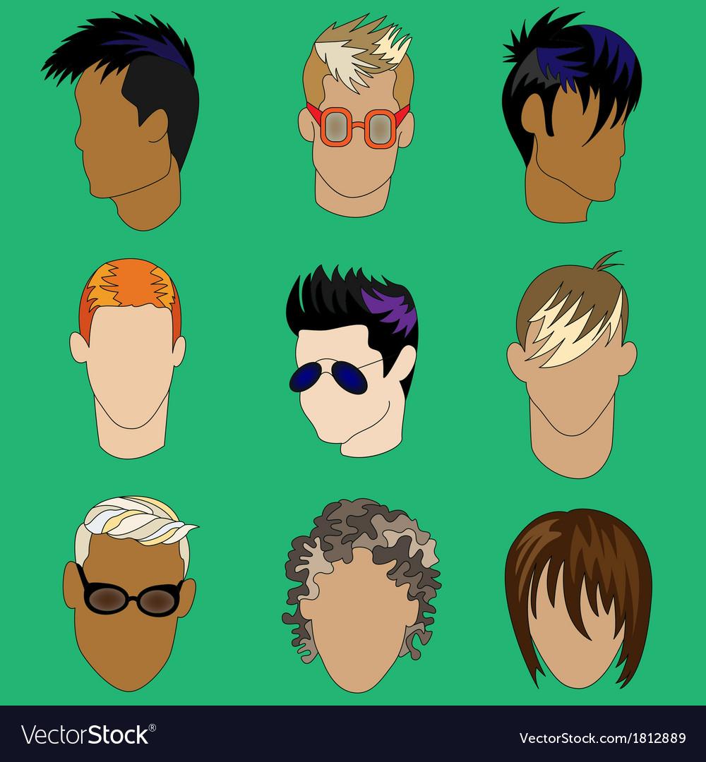 Mens haircut vector | Price: 1 Credit (USD $1)