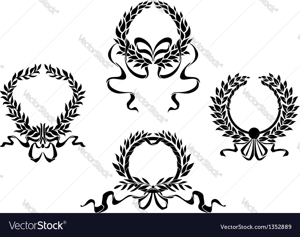 Royal laurel wreaths vector | Price: 1 Credit (USD $1)