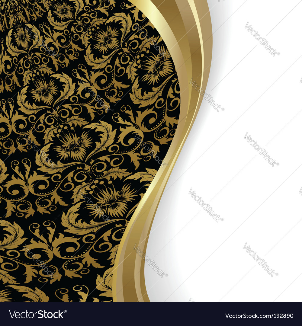 Black and gold background vector | Price: 1 Credit (USD $1)