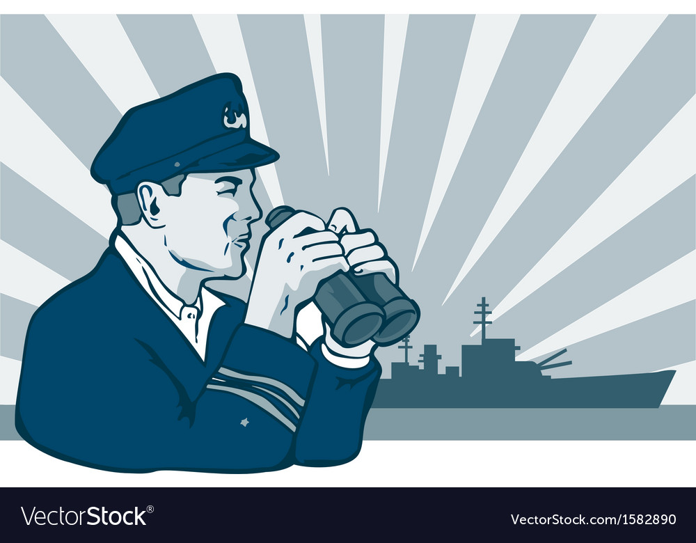 Captain binoculars vector | Price: 1 Credit (USD $1)