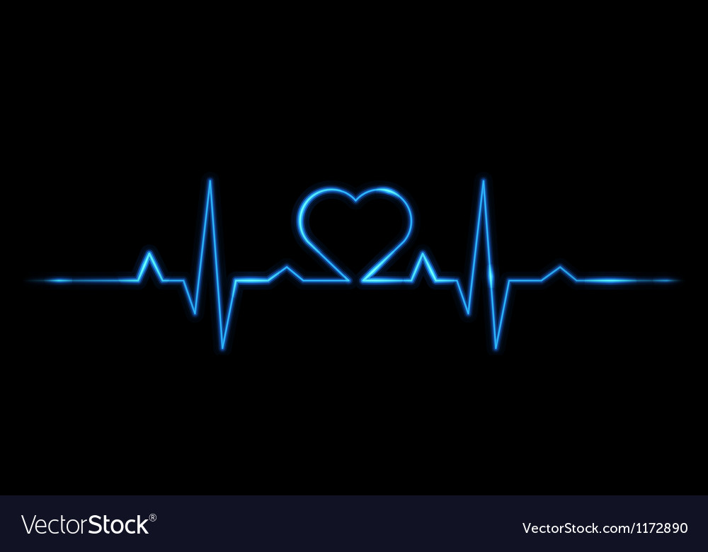 Cardiogram of love vector | Price: 1 Credit (USD $1)