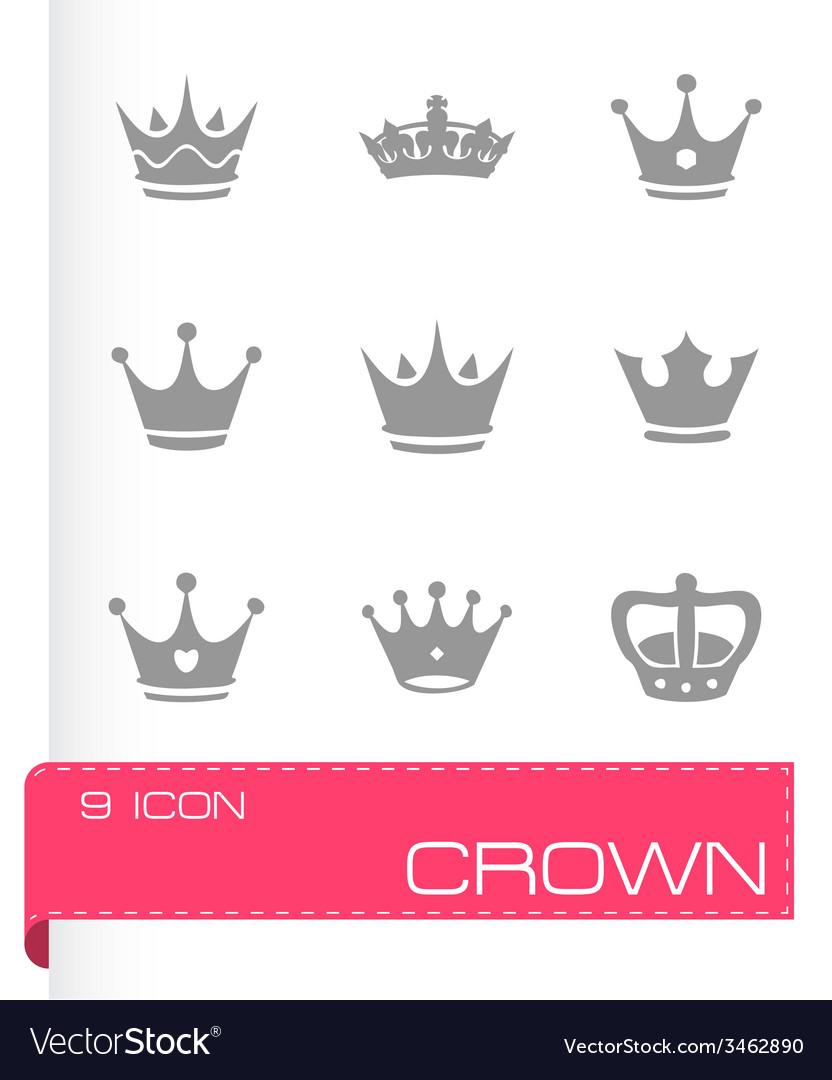 Crown icons set vector | Price: 1 Credit (USD $1)