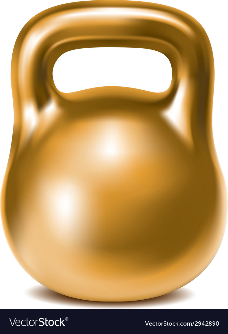 Kettlebell weight gold vector | Price: 1 Credit (USD $1)