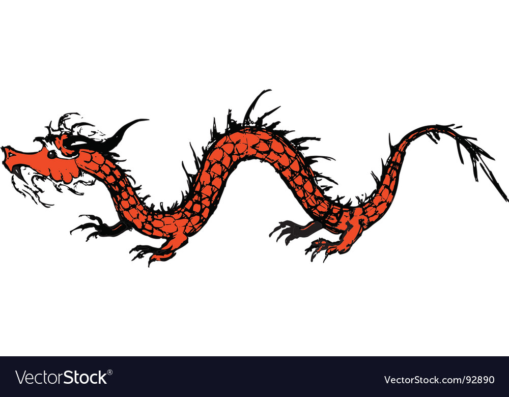 Old dragon vector | Price: 1 Credit (USD $1)