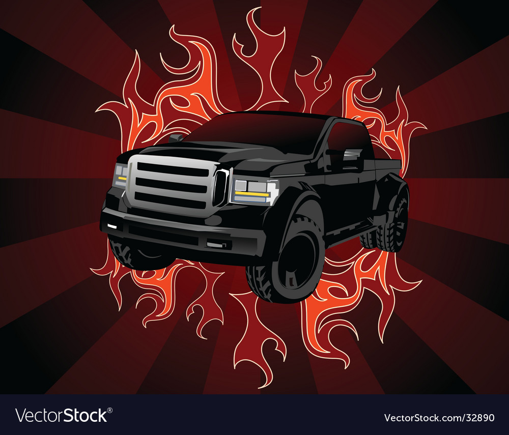 Pickup truck vector | Price: 1 Credit (USD $1)