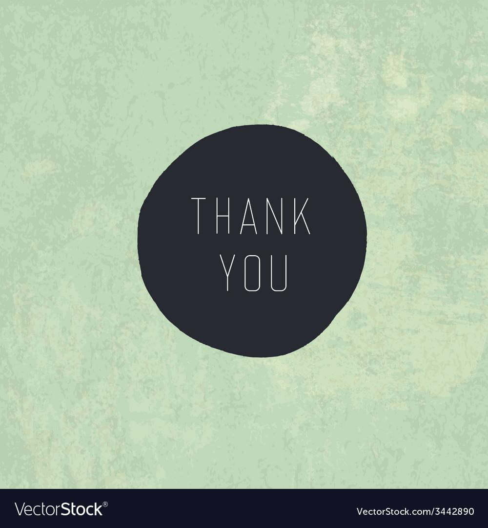 Retro thank you card design vector | Price: 1 Credit (USD $1)