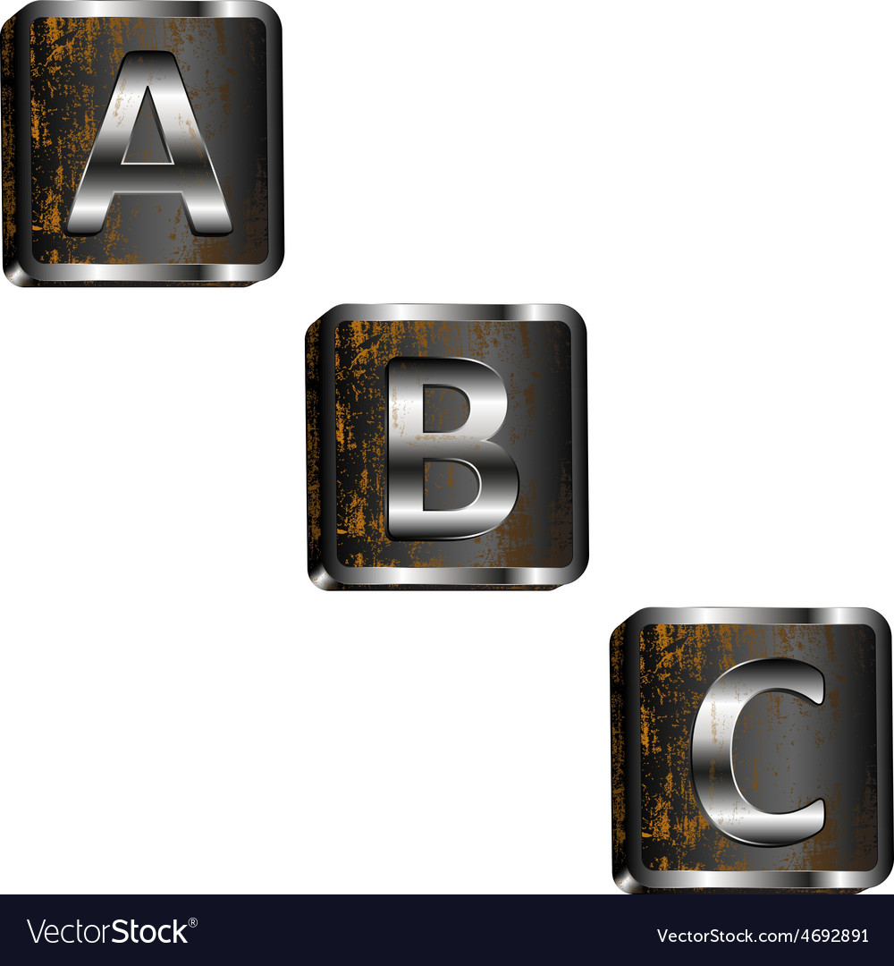 Abc iron letters vector | Price: 1 Credit (USD $1)