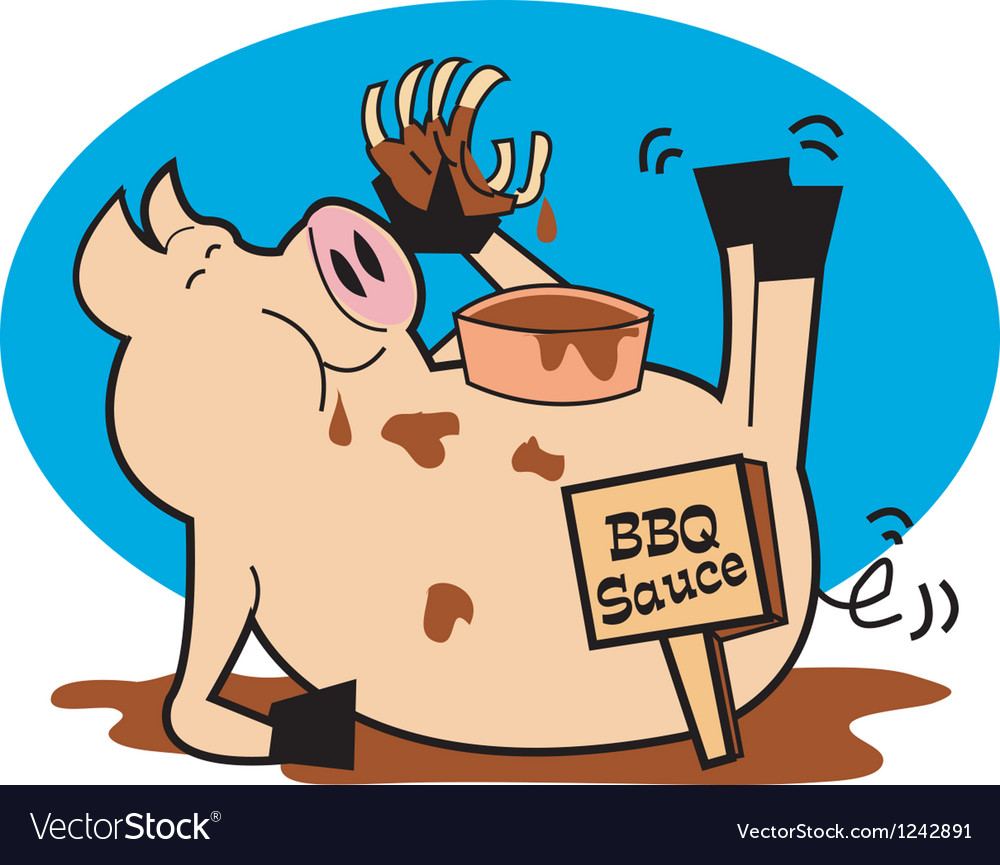 Bbq pork sauce vector | Price: 1 Credit (USD $1)