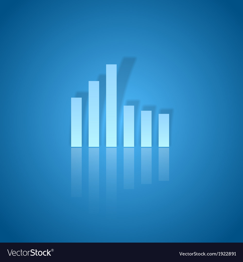 Business graph blue vector | Price: 1 Credit (USD $1)
