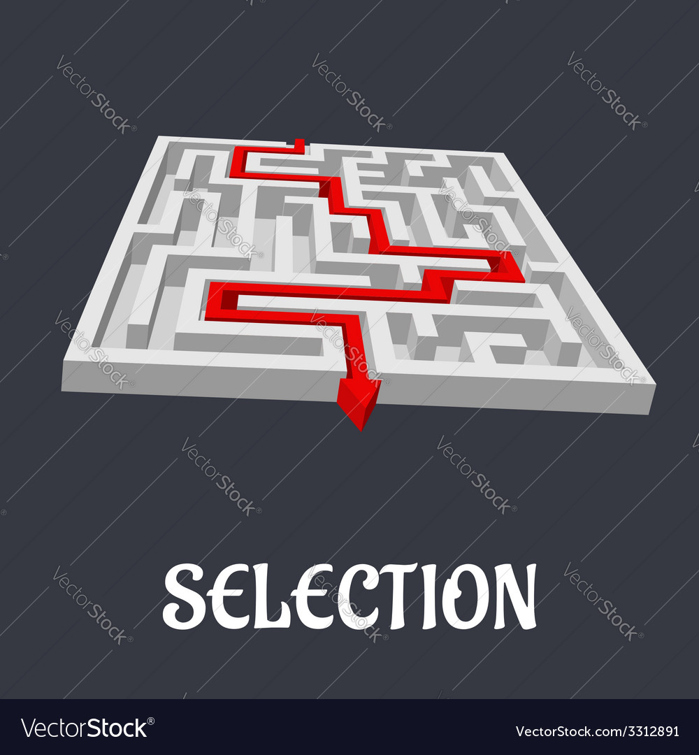 Labyrinth with the word selection below vector | Price: 1 Credit (USD $1)