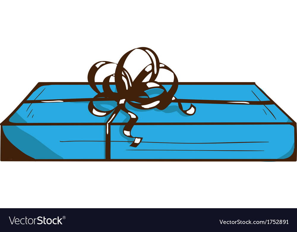Present box with ribbon and bow vector   Price: 1 Credit (USD $1)