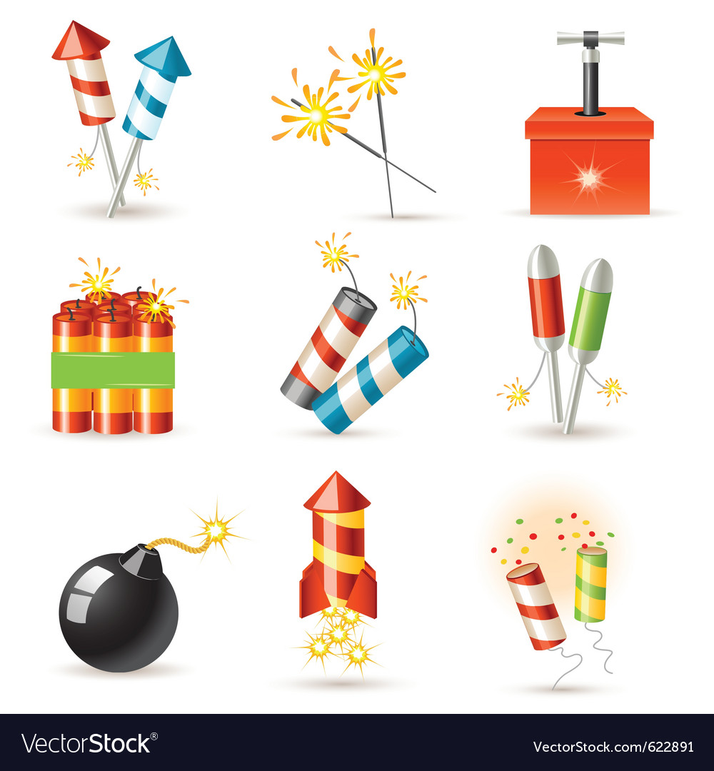 Pyrotechnic set vector | Price: 3 Credit (USD $3)