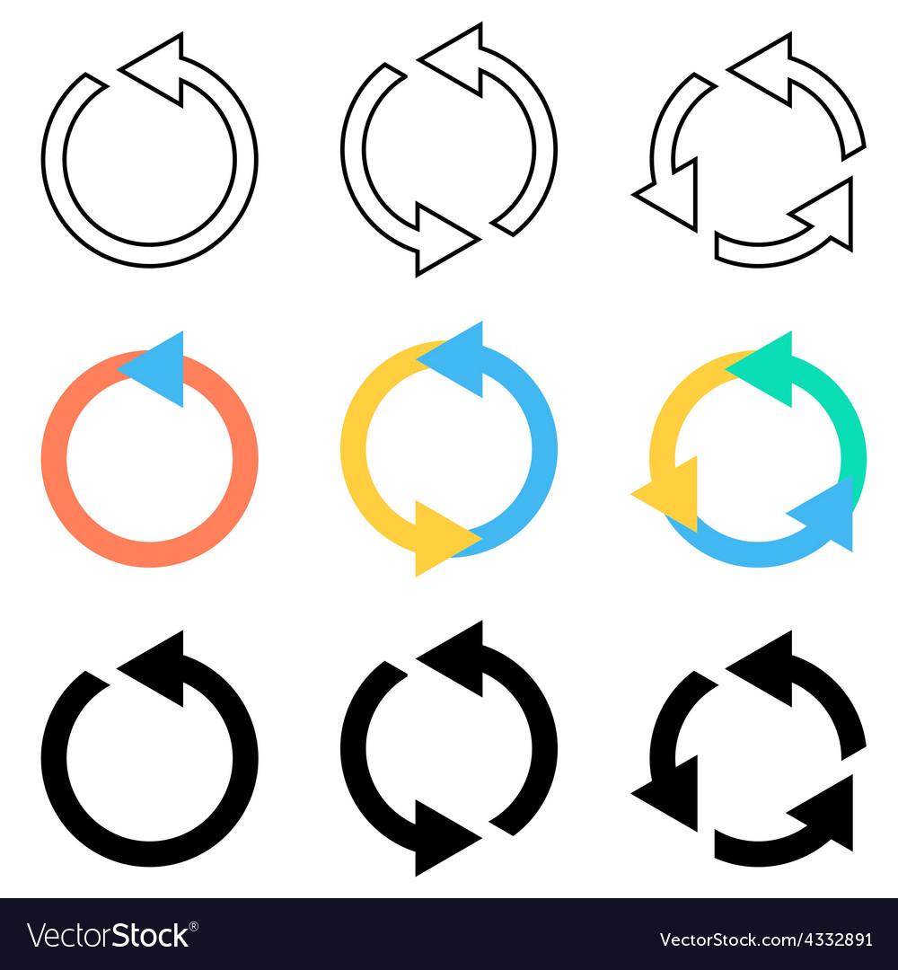 Rotating circle arrows vector | Price: 1 Credit (USD $1)