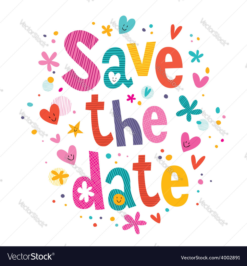 Save the date 2 vector | Price: 1 Credit (USD $1)