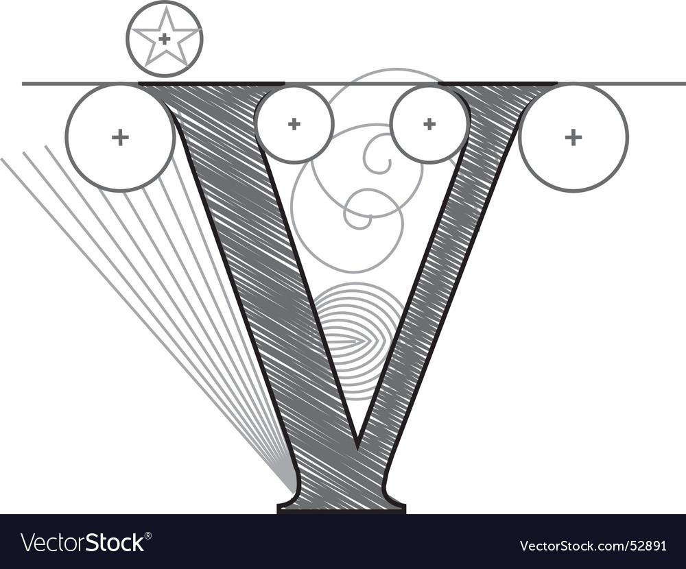 V vector   Price: 1 Credit (USD $1)