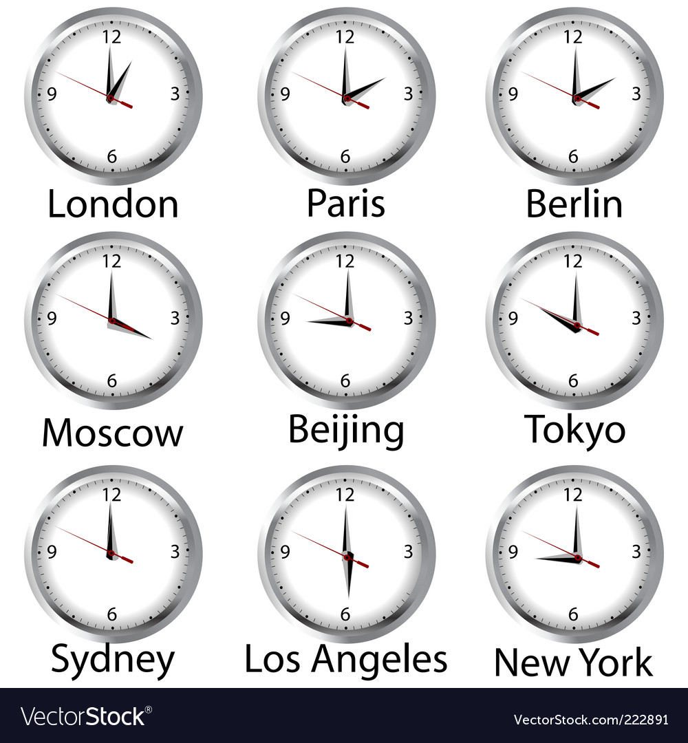 World hours vector | Price: 1 Credit (USD $1)