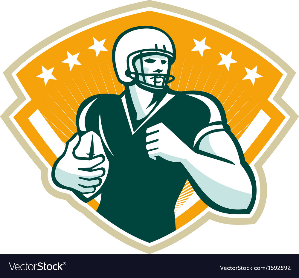 American football runningback crest vector | Price: 1 Credit (USD $1)