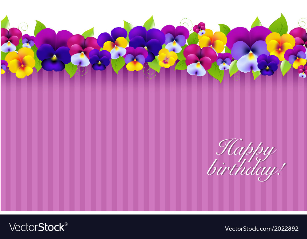 Background with color pansies vector | Price: 1 Credit (USD $1)