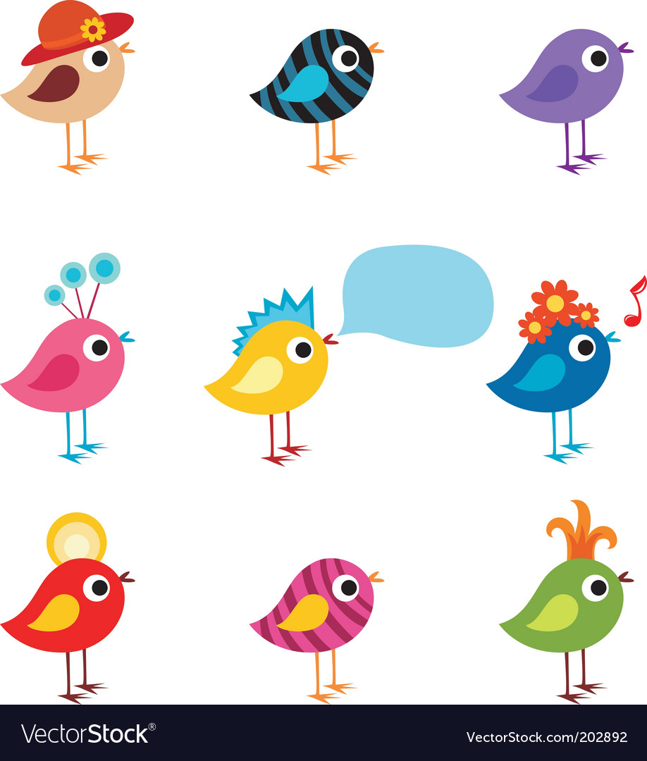 Bird set vector | Price: 1 Credit (USD $1)