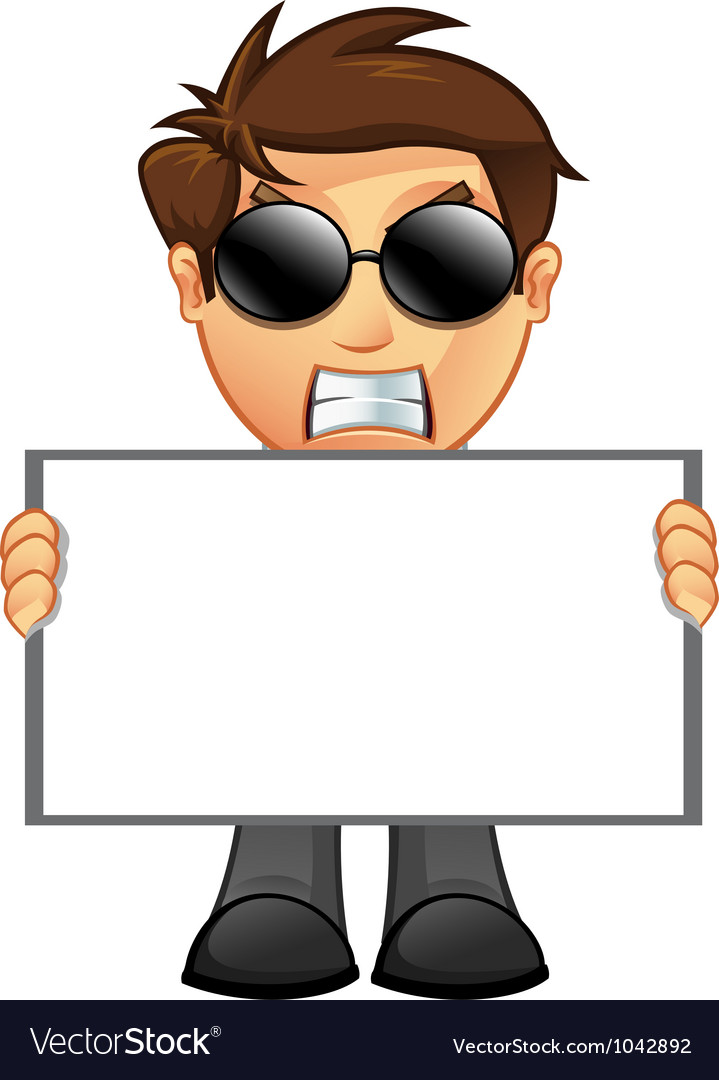Business man blank sign 11 vector | Price: 1 Credit (USD $1)
