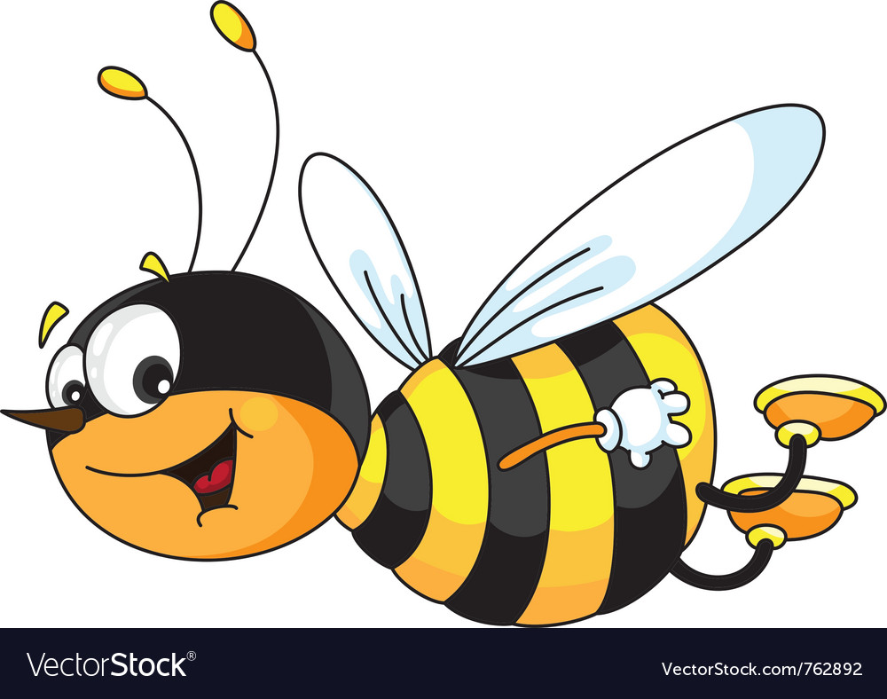 Cheerful bee vector | Price: 3 Credit (USD $3)