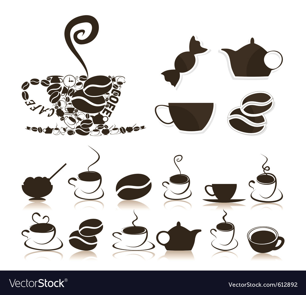 Coffee icons vector | Price: 1 Credit (USD $1)