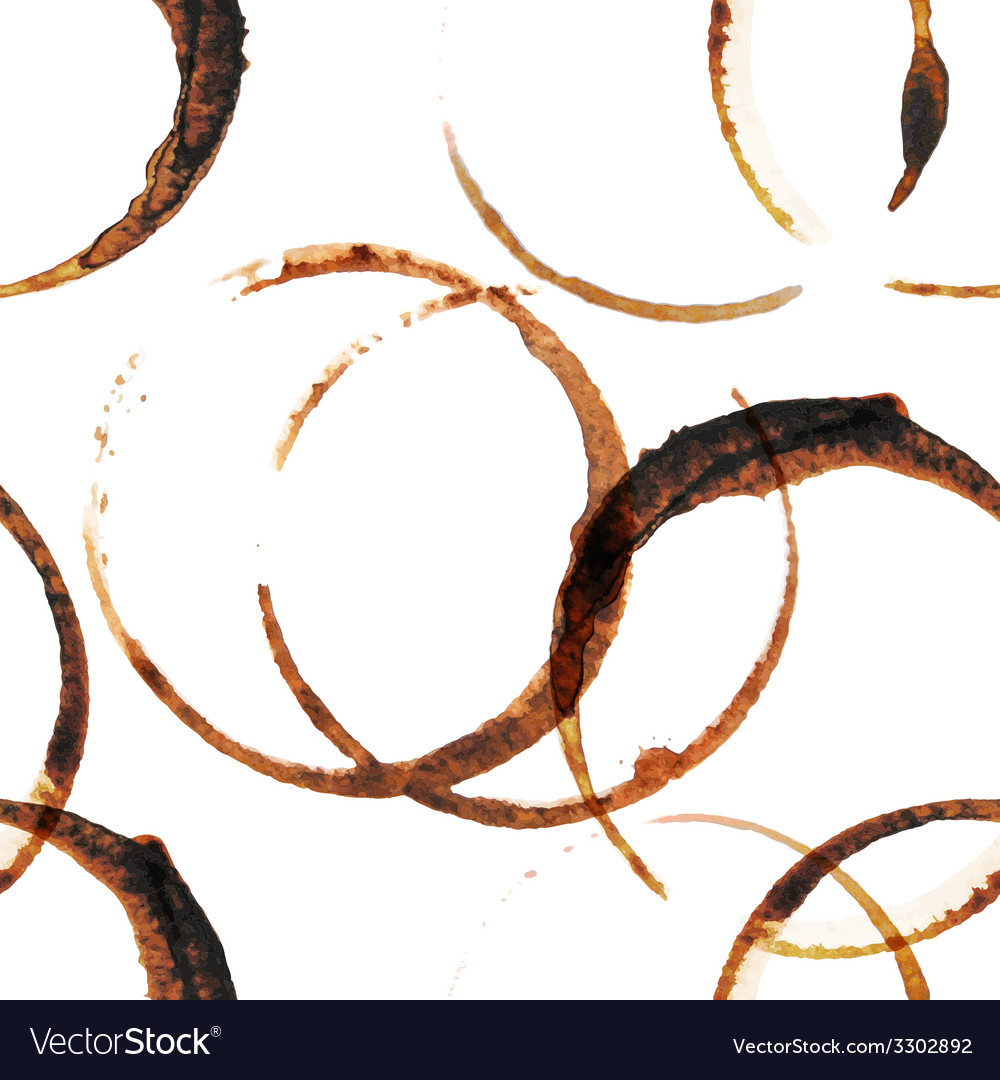 Coffee stains seamless vector | Price: 1 Credit (USD $1)