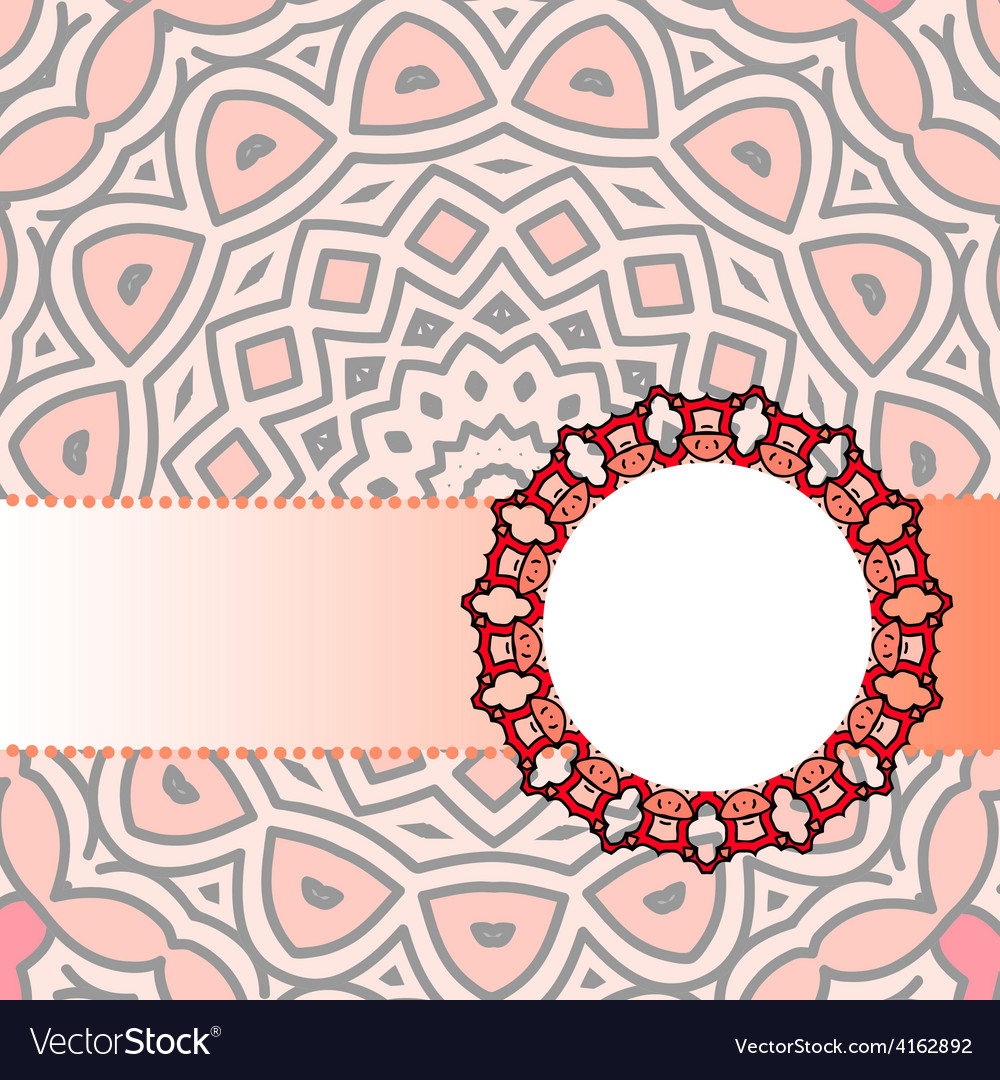 Frame red mandala vector   Price: 1 Credit (USD $1)