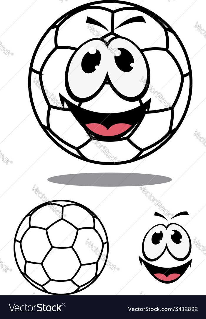 Happy soccer or football ball character vector | Price: 1 Credit (USD $1)