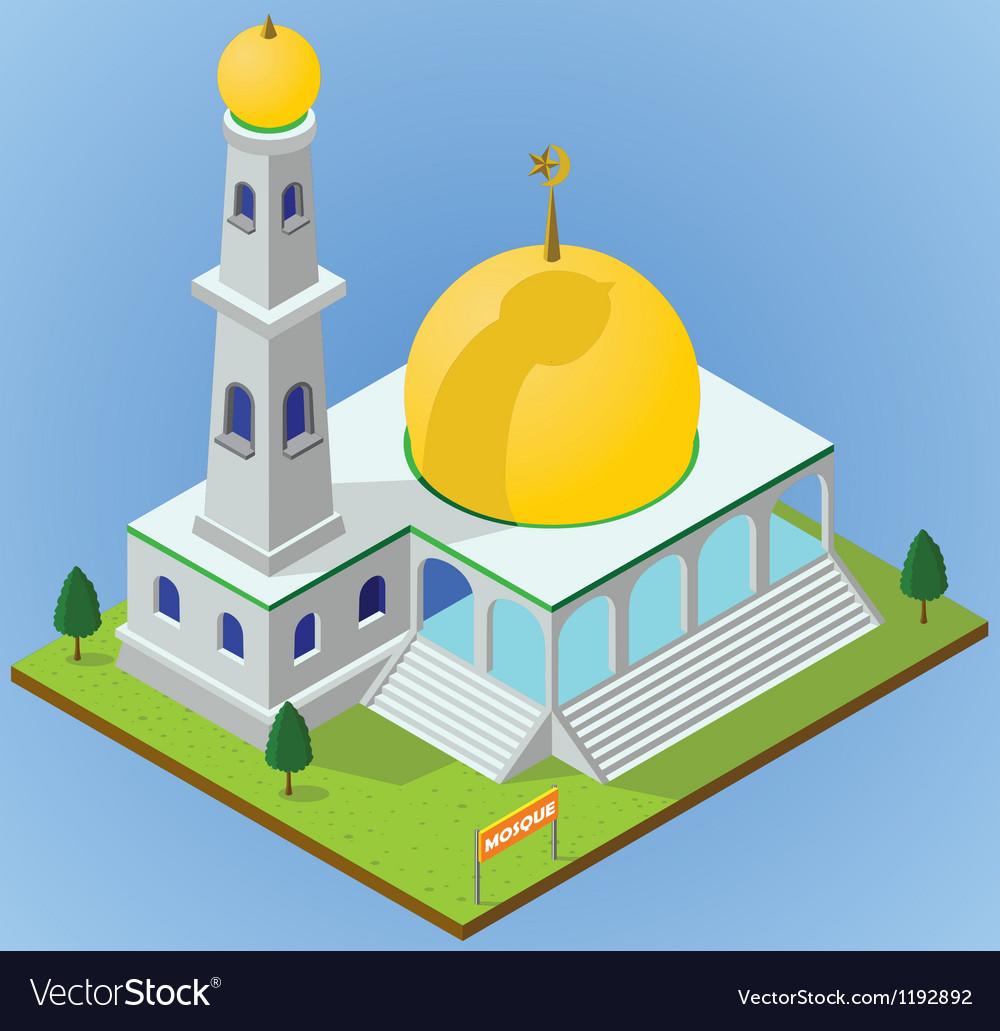 Isometric mosque vector | Price: 3 Credit (USD $3)