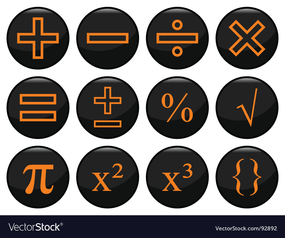 Mathamatics icons vector | Price: 1 Credit (USD $1)