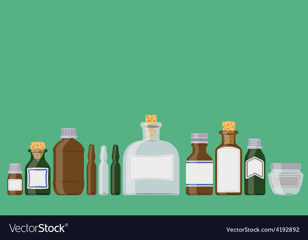 Medicine bottles vector | Price: 1 Credit (USD $1)