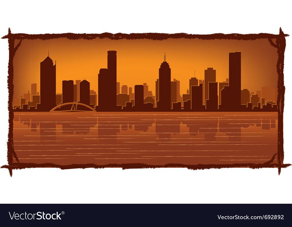 Melbourne australia skyline vector | Price: 1 Credit (USD $1)
